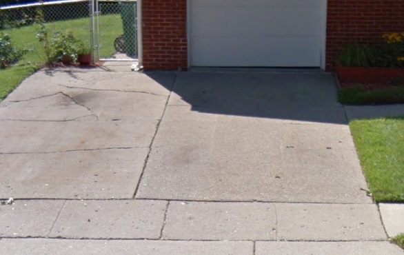 We did this sidewalk repair using concrete lifting in Howell - Lift and Level